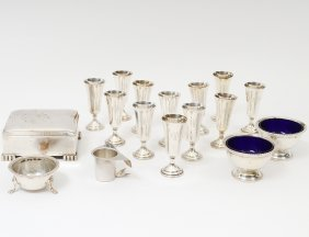 Sixteen Sterling Silver Table Articles