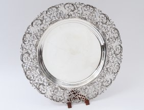 Sterling Silver Round Tray