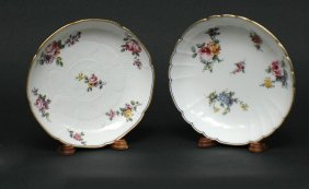 Two ' Sevres ' Finely Painted Porcelain Bowls