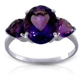 4 Carat Platinum Plated Sterling Silver Bounty Purple A