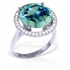 8 Carat Platinum Plated Sterling Silver Ingrid Blue Top