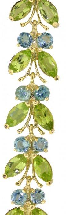 14k White Gold Butterfly Bracelet With Peridot & Blue T