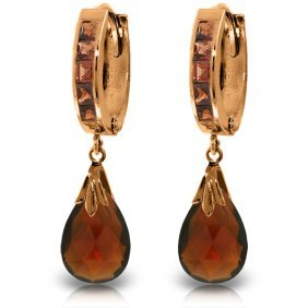 14k Rose Gold Changeling Garnet Earrings