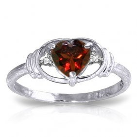 0.96 Ctw Platinum Plated Sterling Silver Glory Garnet D