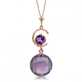 14k Rose Gold Come Untangled Amethyst Necklace