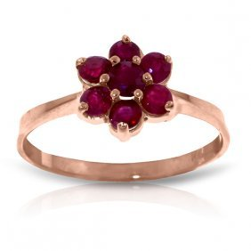 14k Rose Gold Moment Of Peace Ruby Ring