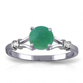 0.62 Ctw Platinum Plated Sterling Silver Cathy Emerald