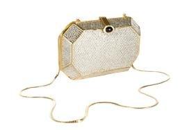 Judith Leiber Swarovski Crystal Minaudiere Bag