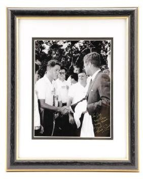 "Sachs, ""Bill Clinton With President Kennedy""-1963"