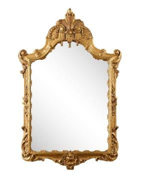 Chinese Chippendale Giltwood Tassel Mirror