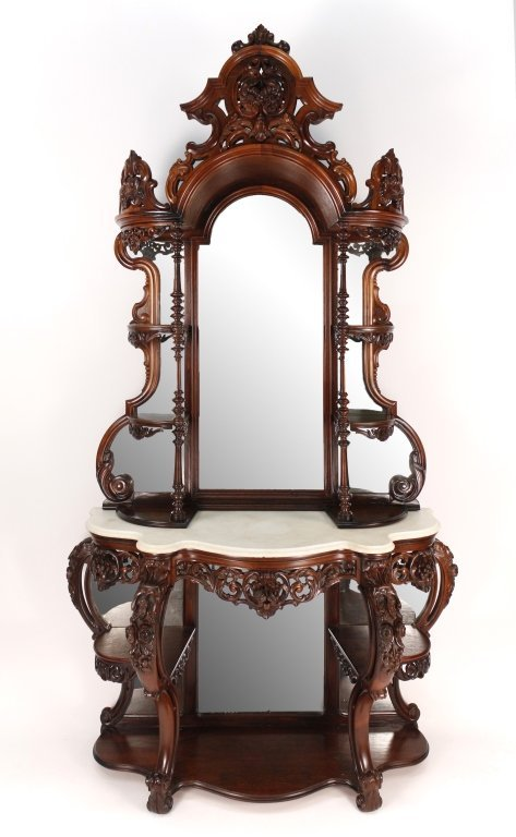 a very fine meeks carved rosewood etagere lot 196. Black Bedroom Furniture Sets. Home Design Ideas
