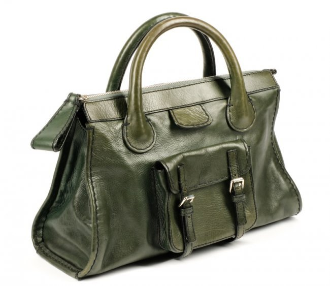 Chloe Edith Dark Green Leather Handbag w/ Dust Bag : Lot 202