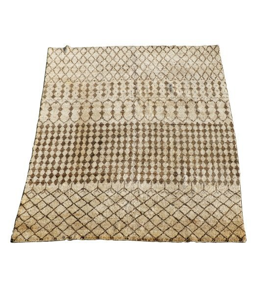 Hand Woven Moroccan Room Size Rug 9' X 12' : Lot 1097