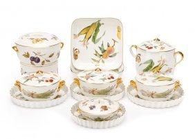 "Royal Worcester ""evesham"" Serving Wares, 14 Pieces"