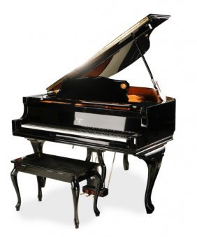 Weber Ebonized Baby Grand Piano W/player Device