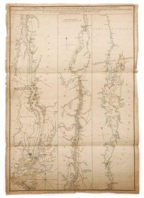 Scarce 1st St. Revolutionary War English Map Of Us