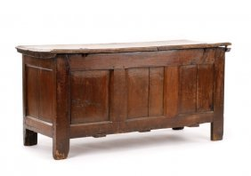 18th C. William And Mary Carved Oak Coffer