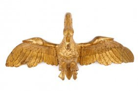 Empire Carved & Gilt Wood Swan, Early 19th C.
