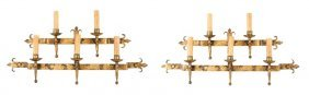 Pair, Gothic Style Bronzed Iron Candle Sconces
