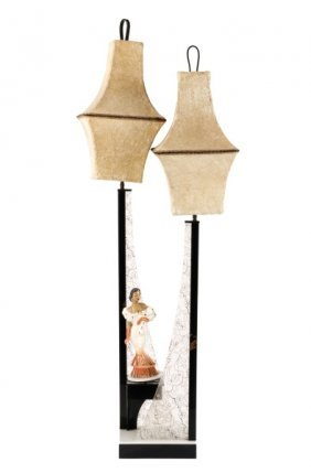 Large Modern Moss Lamp, Carmen Miranda