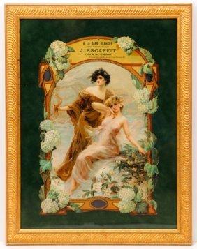 French Art Nouveau Nymphs Lingerie Advertisement
