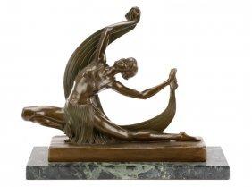 After Ferdinand Preiss, Art Deco Figural Bronze