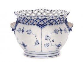Royal Copenhagen Blue, White Porcelain Jardiniére