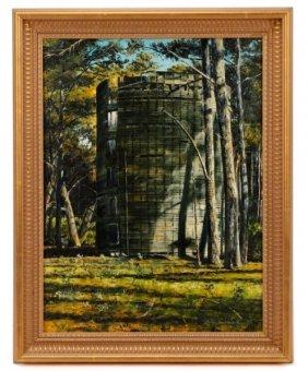 Bruce Braithwaite, Silo, Oil On Canvas, 1986