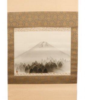 Yokoyama Taikan, Mt. Fuji, Signed Painting On Silk