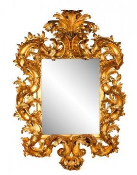 Monumental Italian Carved & Giltwood Mirror