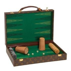 Louis Vuitton Monogram backgammon set