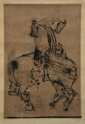 Large Etching By Johnny Friedlaender (1912-1992,