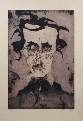Signed Etching By Horst Janssen (1929-1995, Germa