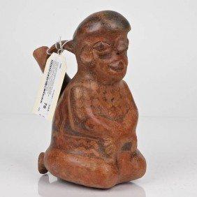 Vicus Ceramic Kneeling Prisoner Form Effigy Bottle