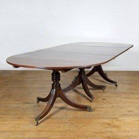 Regency Mahogany Triple Pedestal Dining Table