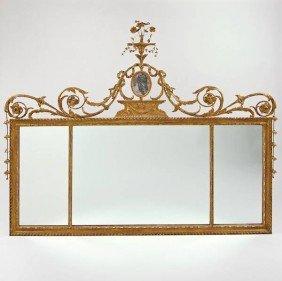 George III Giltwood Overmantel Mirror