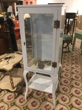 Antique Enameled Steel Dental Cabinet
