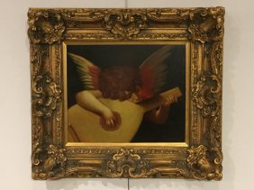 After Raphael, Angel, Oil On Canvas