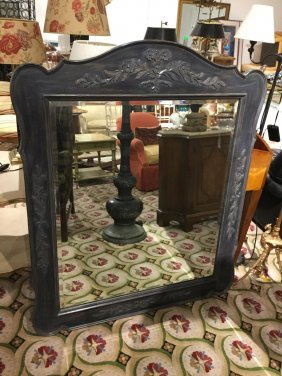 "French Style ""normandy"" Painted Mirror"