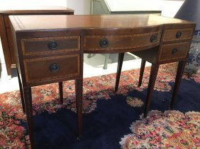 Early Baker Leather Top Mahogany Desk