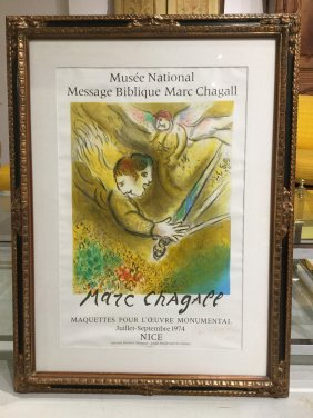 Hand-signed Marc Chagall Off-set Print