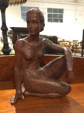Art Deco Glazed Ceramic Nude