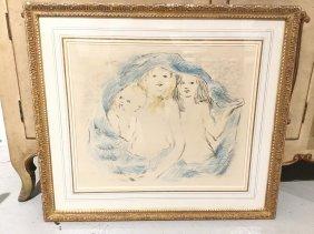 """Marcel Vertes, """"les Trois Enfants"""" Lithograph"""