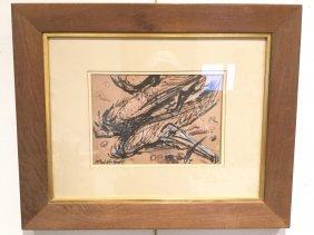 Lloyd Lozes Goff, Ink/watercolor On Paper