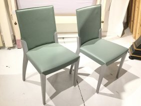 Pair Cattelan Italia Leather Side Chairs