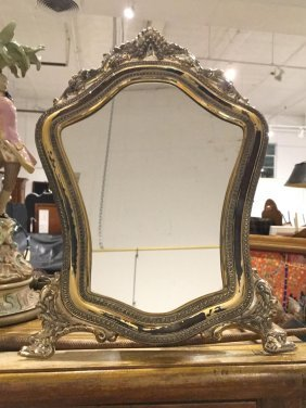 Continental .800 Silver Table Top Mirror