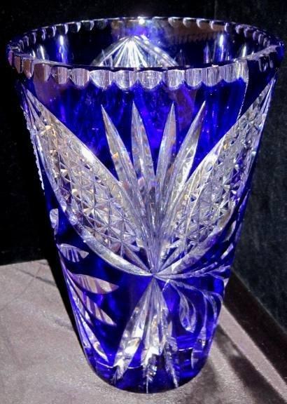 Waterford Cobalt Blue Crystal Vase Lot 118
