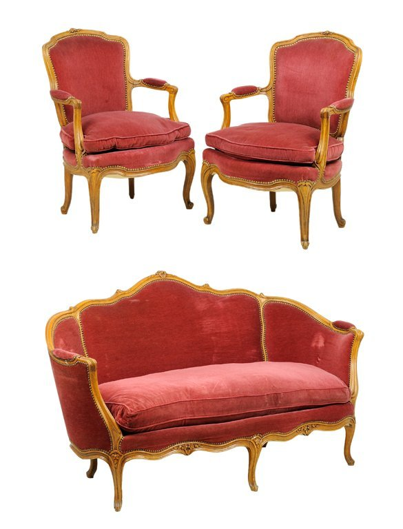 A french louis xv style salon suite lot 194 for Salon louis xv