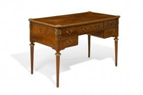 A Louis Xvi Style Kingwood Parquetry And Ormolu Mounted