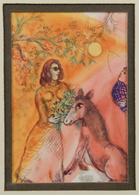 Style Of Marc Chagall, (20th Century), Untitled, Work